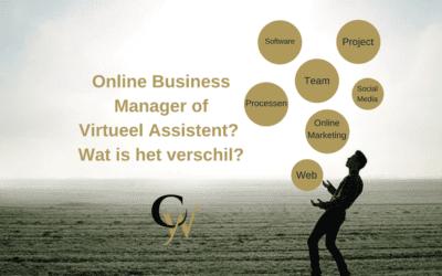 Verschil tussen een Online Business Manager en een Virtueel Assistent